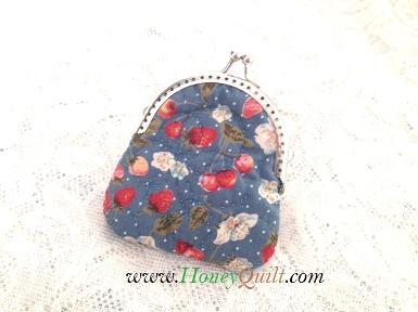 Blue Strawberry Coin Purse