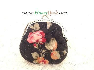 Rose Bk Mini Coin Purse