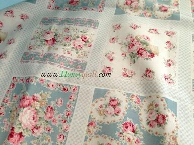 New ! ผ้า Lecien Antique Rose Soft blue